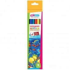 Карандаши цветные пластиковые ArtSpace
