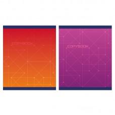 Тетрадь А5 48 л клетка скоба, блок-офсет-2 фиолетовая/красная