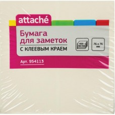 Бумага для записей с липким слоем Attache 76*76 400 л пастель 4 цвета