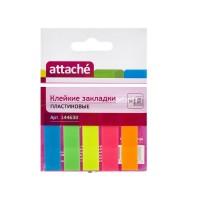 Флажки-закладки пластиковые 12*50 мм, 5 цветов по 20 л., клейкие