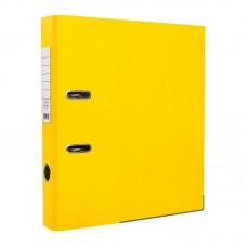 Папка-регистратор ПВХ ЭКО с металлическим уголком, А4, 50мм, жёлтая