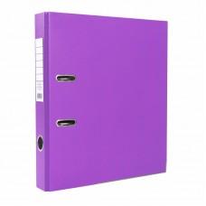 Папка-регистратор ПВХ ЭКО с металлическим уголком, А4, 50мм, фиолетовая