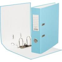 Папка-регистратор ПВХ ЭКО 75 мм с металлическим уголком, светло-голубой