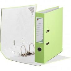 Папка-регистратор ПВХ ЭКО с металлическим уголком, А4, 75мм, светло-салатовый