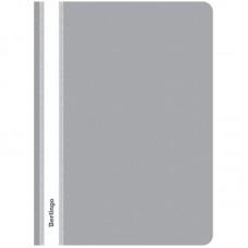 Папка-скоросшиватель пластик. Berlingo, А4, 180мкм, серая с прозр. верхом