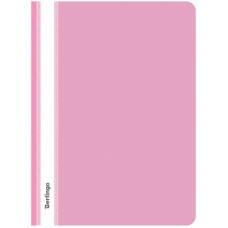 Папка-скоросшиватель пластик. Berlingo, А4, 180мкм, розовая с прозр. верхом