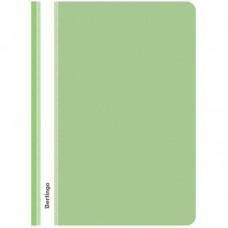 Папка-скоросшиватель пластик. с прозрачным верхом Berlingo, А4, 180мкм, салатовая