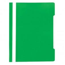 Папка-скоросшиватель пластик. с прозрачным верхом Attache Economy Элементари, А4, 150/180мкм, зелёная