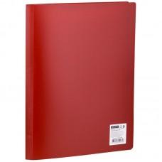 Папка с 20 вкладышами OfficeSpace, A4, 17мм, 400мкм, красная