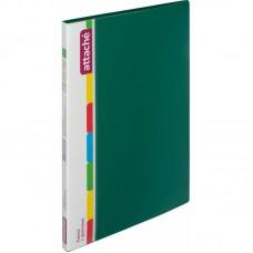Папка с 30 вкладышами Attache, A4, 15мм, 700мкм, зелёная