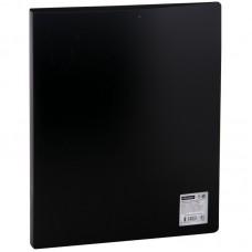 Папка на 2-х кольцах OfficeSpace, 25мм, 500мкм, чёрная