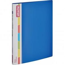 Папка с зажимом Attache F611/07 17 мм синяя