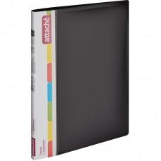 Папка с зажимом Attache F611/07 17 мм черная