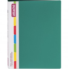 Папка с пружинным скоросшивателем Attache, А4, 17мм, 700мкм, зелёная