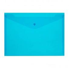 Папка-конверт на кнопке Attache Economy Элементари, A4, 180мкм, синяя