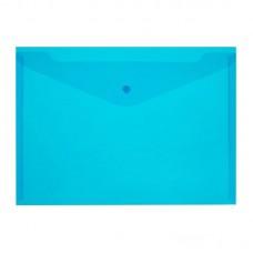Папка-конверт на кнопке Attache Economy Элементари, A4, 150мкм, синяя