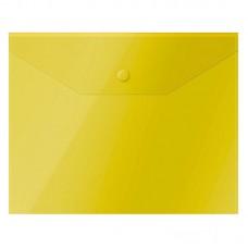 Папка-конверт на кнопке OfficeSpace, А5, 150мкм, жёлтая