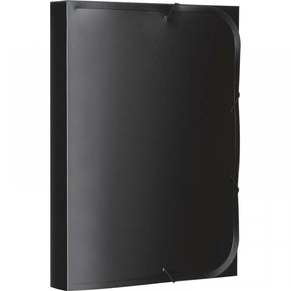 Папка-короб на резинке ATTACHE, 40 мм, 450 мкм, черная