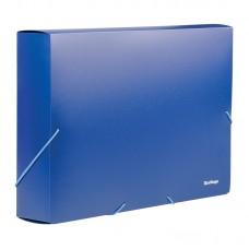 Папка-короб на резинках Berlingo А4, 50мм, синяя