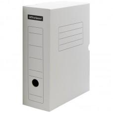 Короб архивный с клапаном OfficeSpace, микрогофрокартон, 100мм, белый, до 900л.