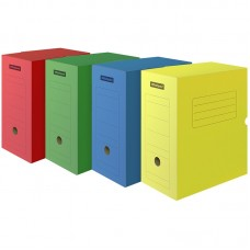 Короб архивный с клапаном OfficeSpace, микрогофрокартон, 150мм, ассорти цветной, до 1400л.