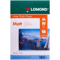 Фотобумага А4 для струйных принтеров LOMOND 180 г/м2 (50 л) матовая односторонняя