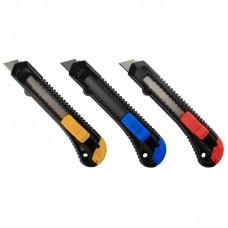 Нож канцелярский Attache с фиксатором (ширина лезвия 18 мм)