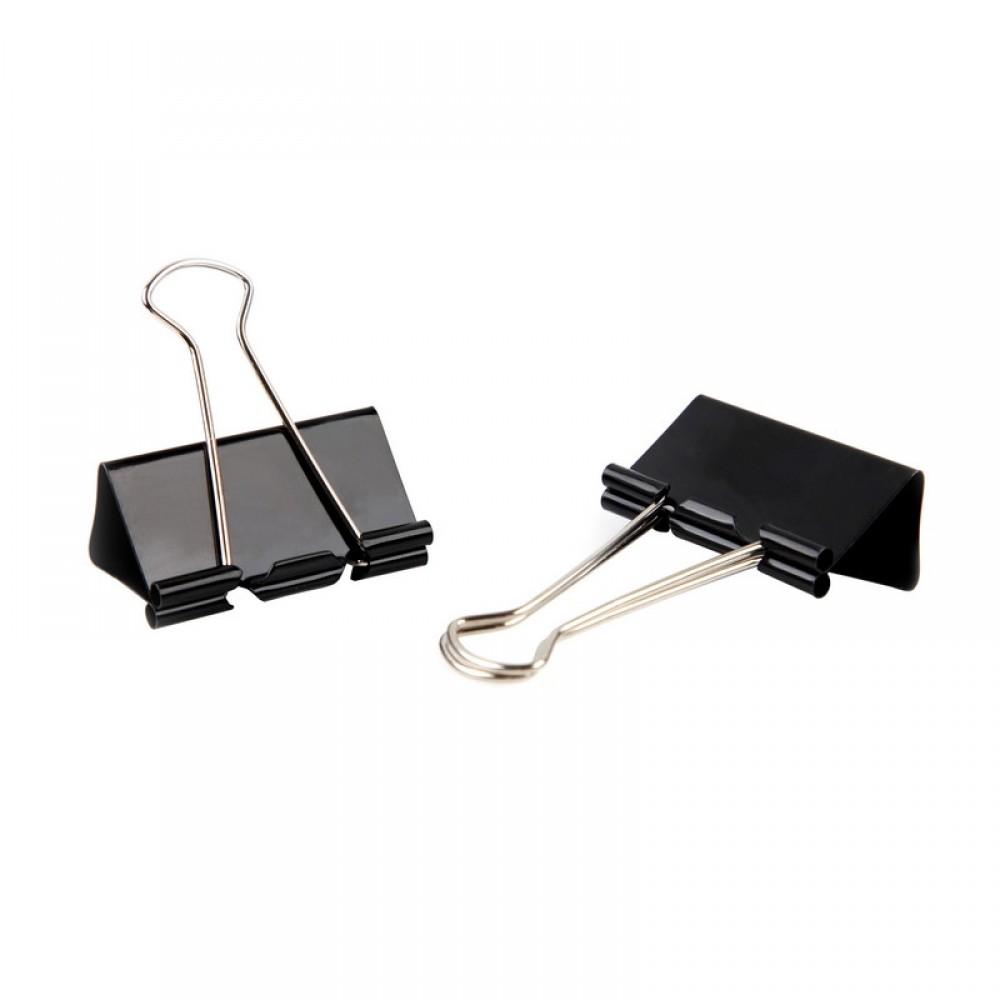 Зажимы для бумаг 51мм, 12 шт/уп Attache Economy, цвет чёрный