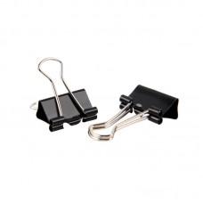 Зажимы для бумаг 19 мм Attache Economy черные 12 шт/уп, в картонной коробке