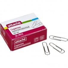 Скрепки Attache, 28 мм никелированные, 100 шт в упаковке