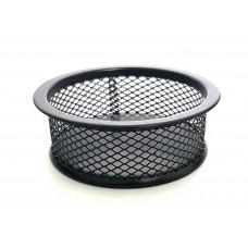 Подставка для скрепок FORPUS металлическая круглая черная, FO30542