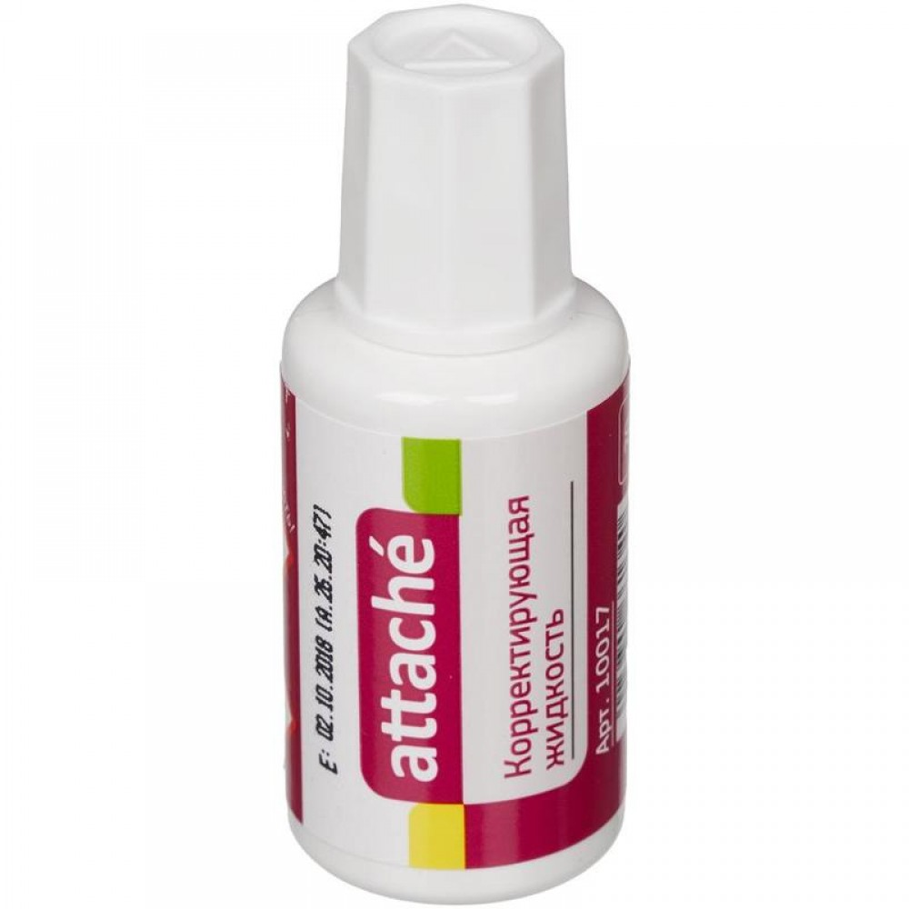 Корректирующая жидкость Attache быстросохнущая, 20 мл, с кистью