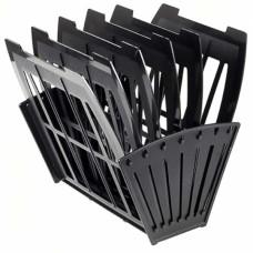 Лоток для бумаг веерный «Эсир» 5-ти секционный, черный