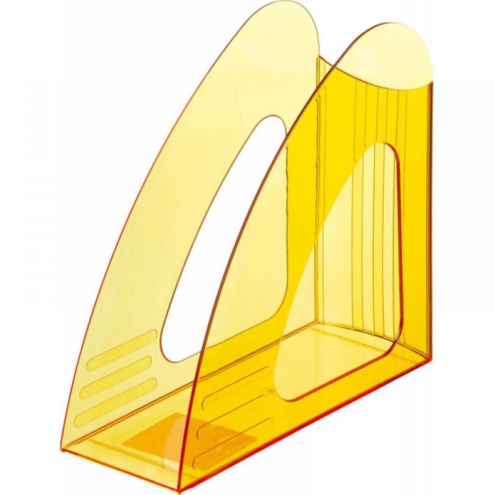 Вертикальный накопитель Attache 90мм Bright Colours, прозрачный, жёлтый