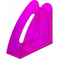 Вертикальный накопитель Attache 90мм Bright Colours, прозрачный, фиолетовый