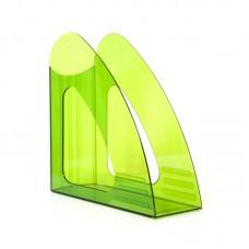 Вертикальный накопитель Attache, 90мм, прозрачный, зелёный