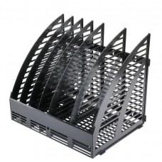 Лоток вертикальный сборный «Эсир», 320*290*250 мм, 6 секций, черный