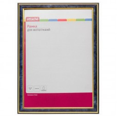 Рамка пластиковая Attache A4 (21х30), синяя/золотая