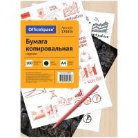 Бумага копировальная OfficeSpace, А4, 100л., черная