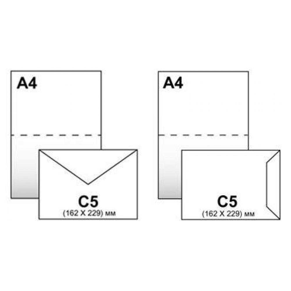 Конверт НПф С5 (162*229) б/п, 0+0 силикон