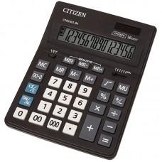 Калькулятор настольный Citizen Business Line CDB, 16 разр., двойное питание, 157*200*35мм, черный