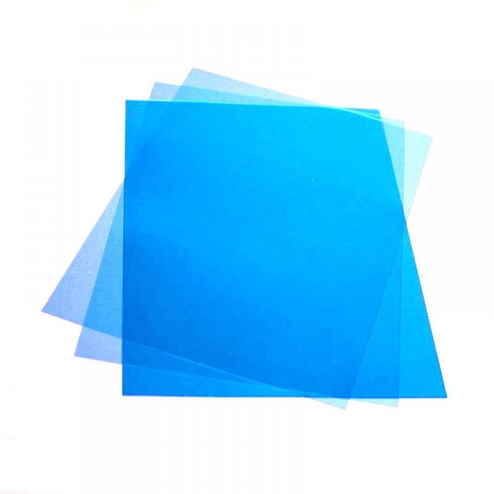 Обложка для переплета, А4, 150мкм, прозрачная синяя, ПВХ, 100л