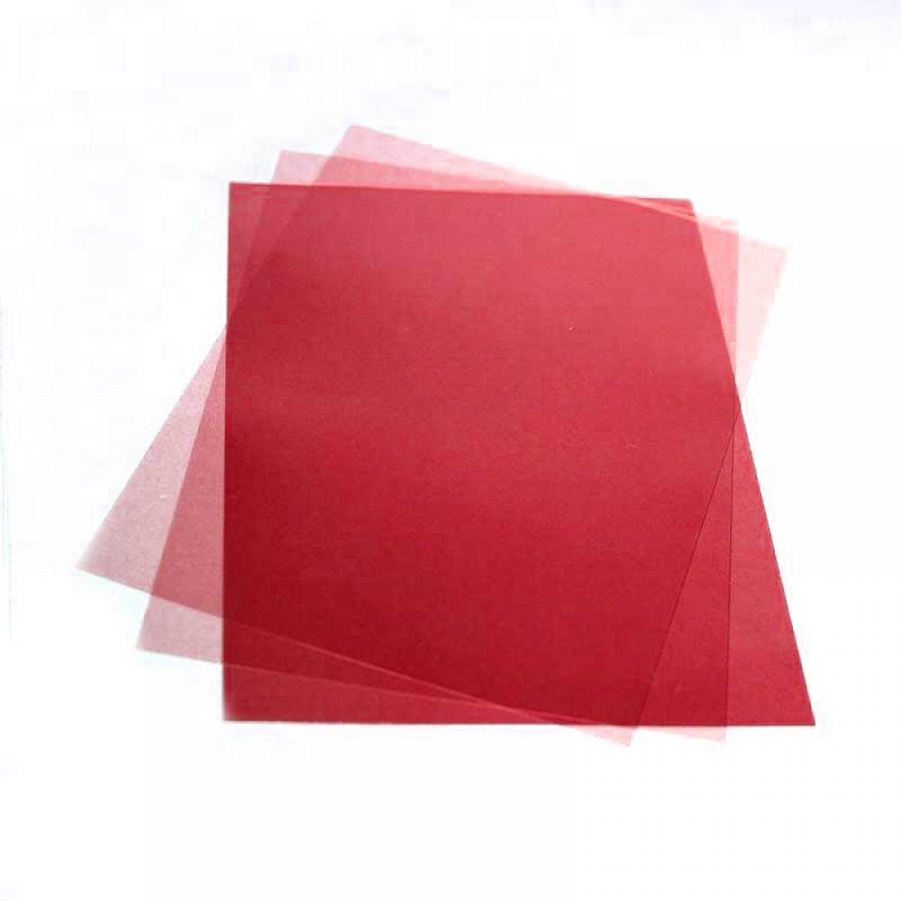Обложка для переплета, А4, 180мкм, прозрачная красная, ПВХ, 100л