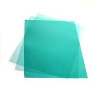 Обложка для переплета, А4, 180мкм, прозрачная зелёная, ПВХ, 100л