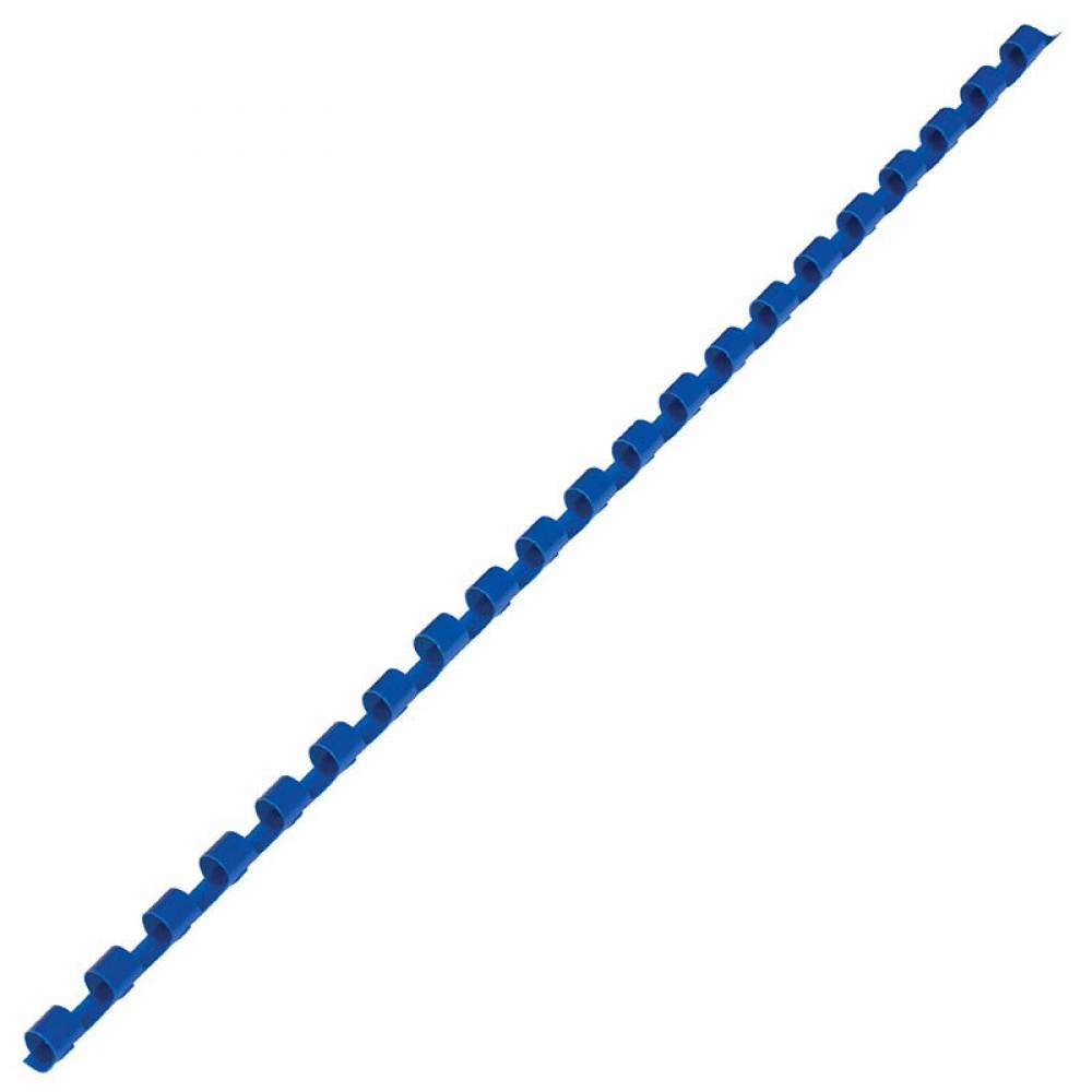 Пружины для переплета пластиковые, 6мм, синие, 100шт/уп
