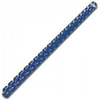 Пружины для переплета пластиковые, 45мм, синие, 50шт/уп