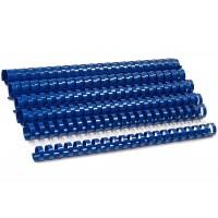 Пружины для переплета пластиковые, 25мм, синие, 50шт/уп