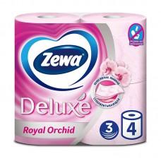 Туалетная бумага Zewa Deluxе с ароматом орхидеи 1*4 рулона 3 слоя