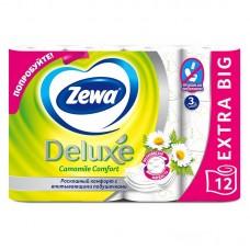 Туалетная бумага Zewa Deluxе белая с ароматом ромашки 1*12 рул 3 слоя