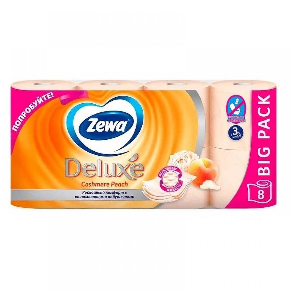 Туалетная бумага Zewa Deluxе с ароматом персика 1*8 рулонов 3 слоя